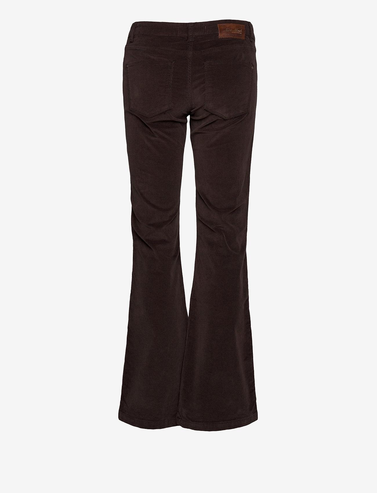 MOS MOSH - Victoria Corduroy Flare Pant - schlaghosen - molé brown - 1