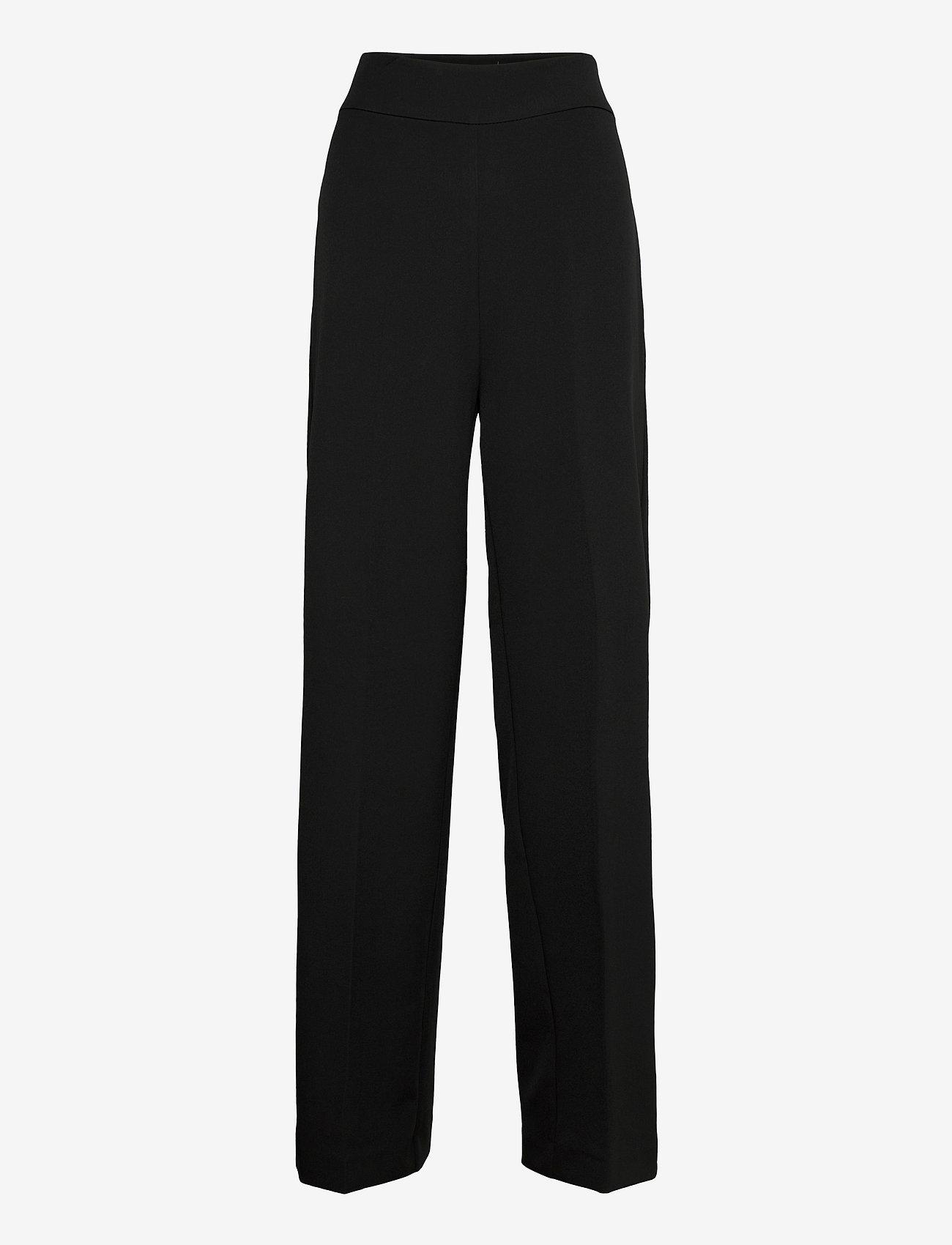 MOS MOSH - Rita Gaia Pant - bukser med brede ben - black - 0
