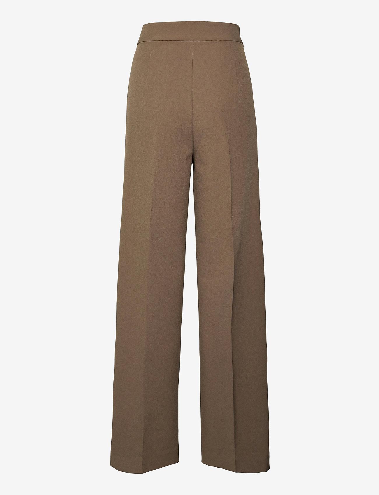 MOS MOSH - Rita Gaia Pant - bukser med brede ben - chocolate chip - 1