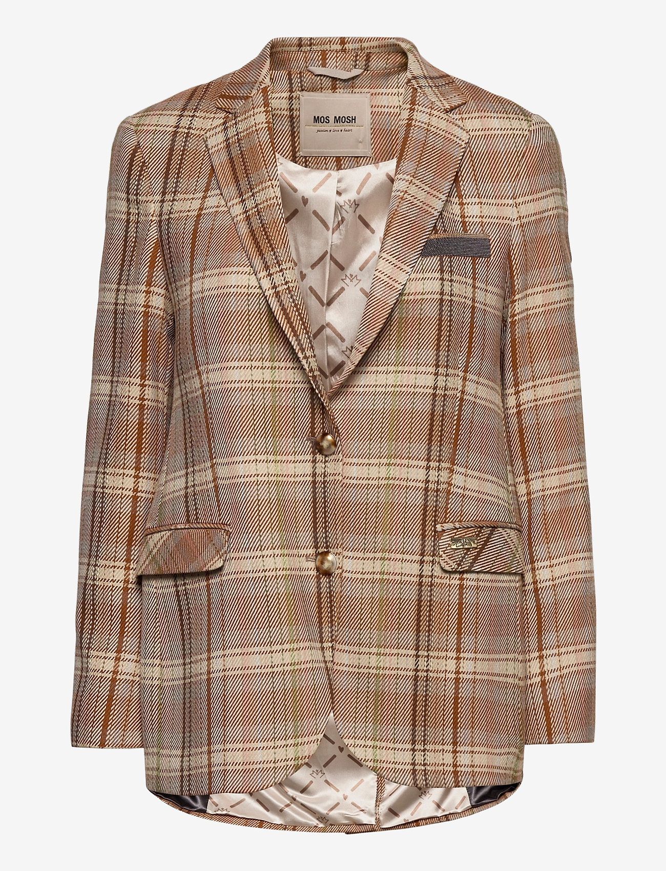 MOS MOSH - Mary Janelle Blazer - oversized blazers - peach beige - 0