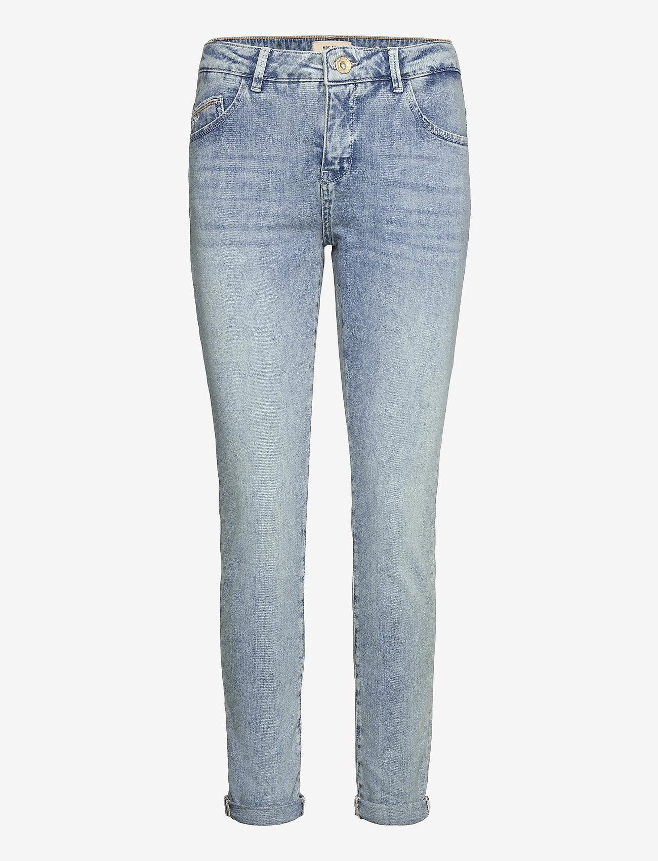 MOS MOSH - Bradford Smooth Jeans - slim jeans - light blue - 0