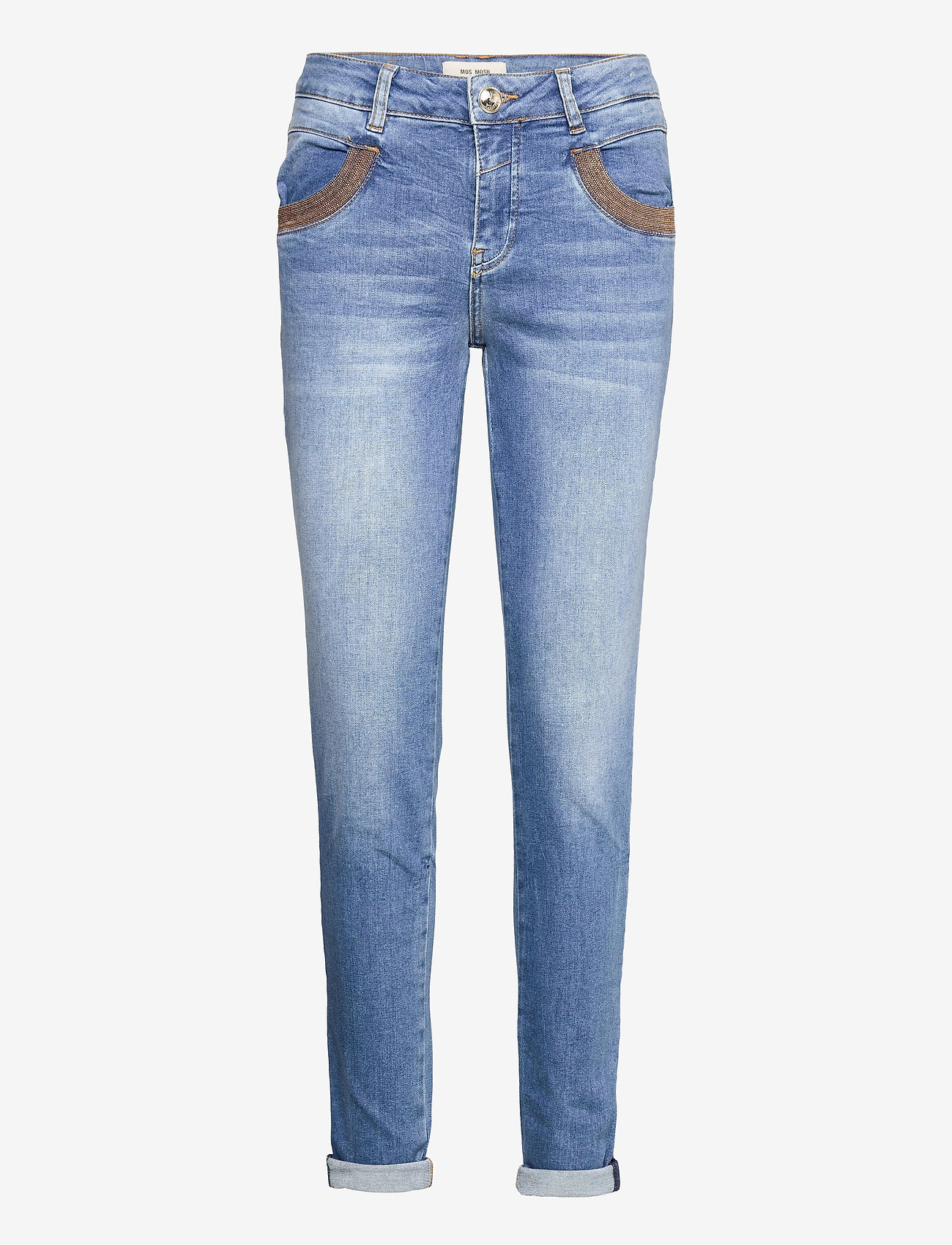 MOS MOSH - Naomi Amber Jeans - slim jeans - light blue - 0