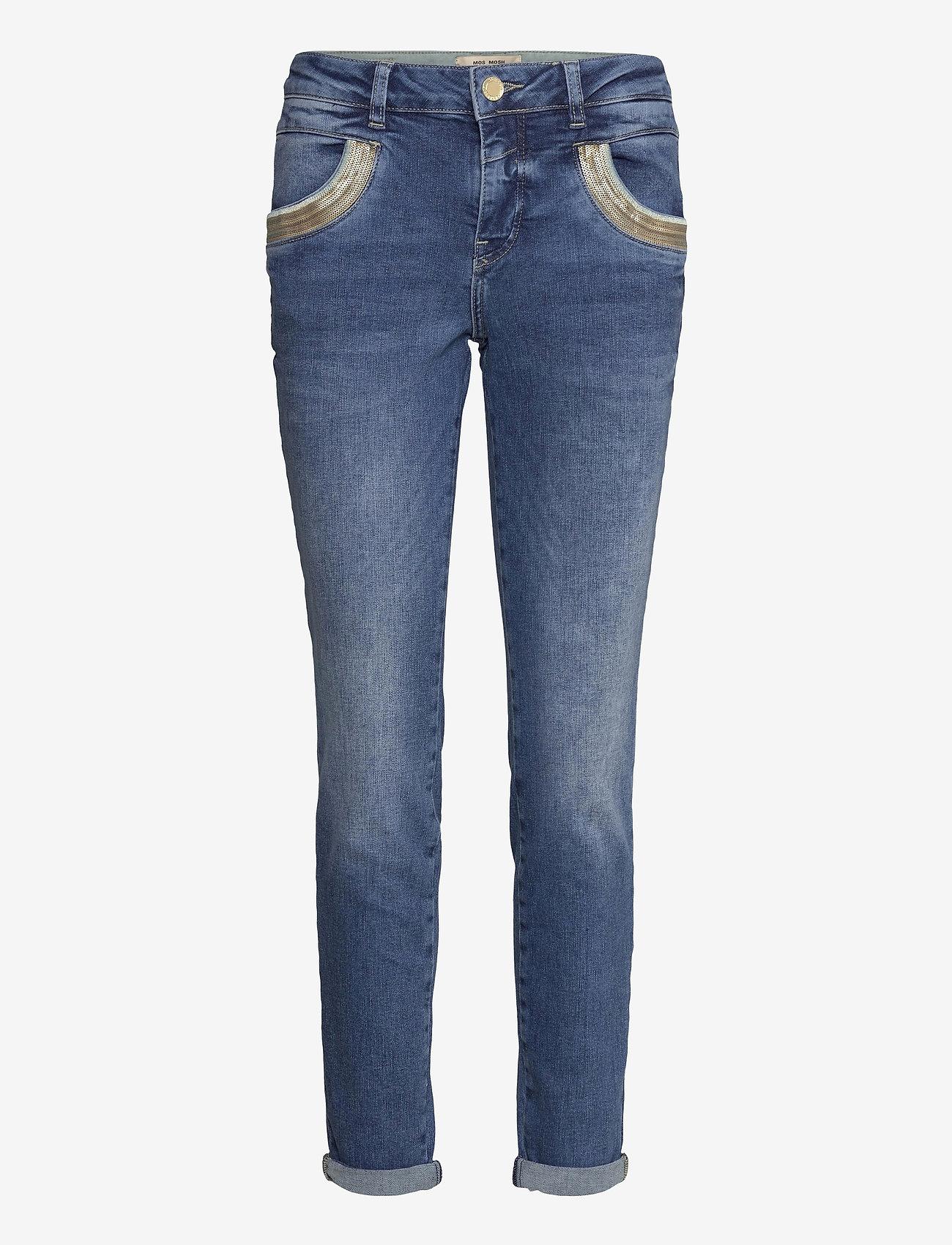 MOS MOSH - Naomi Wave Jeans - slim jeans - blue - 0
