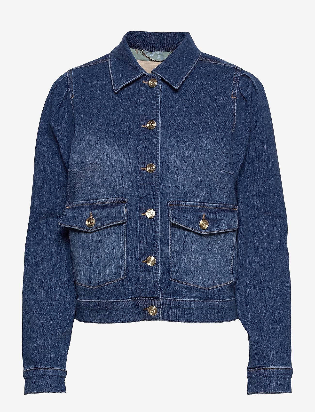 MOS MOSH - Aiden Puff Jacket - jeansjacken - blue - 0