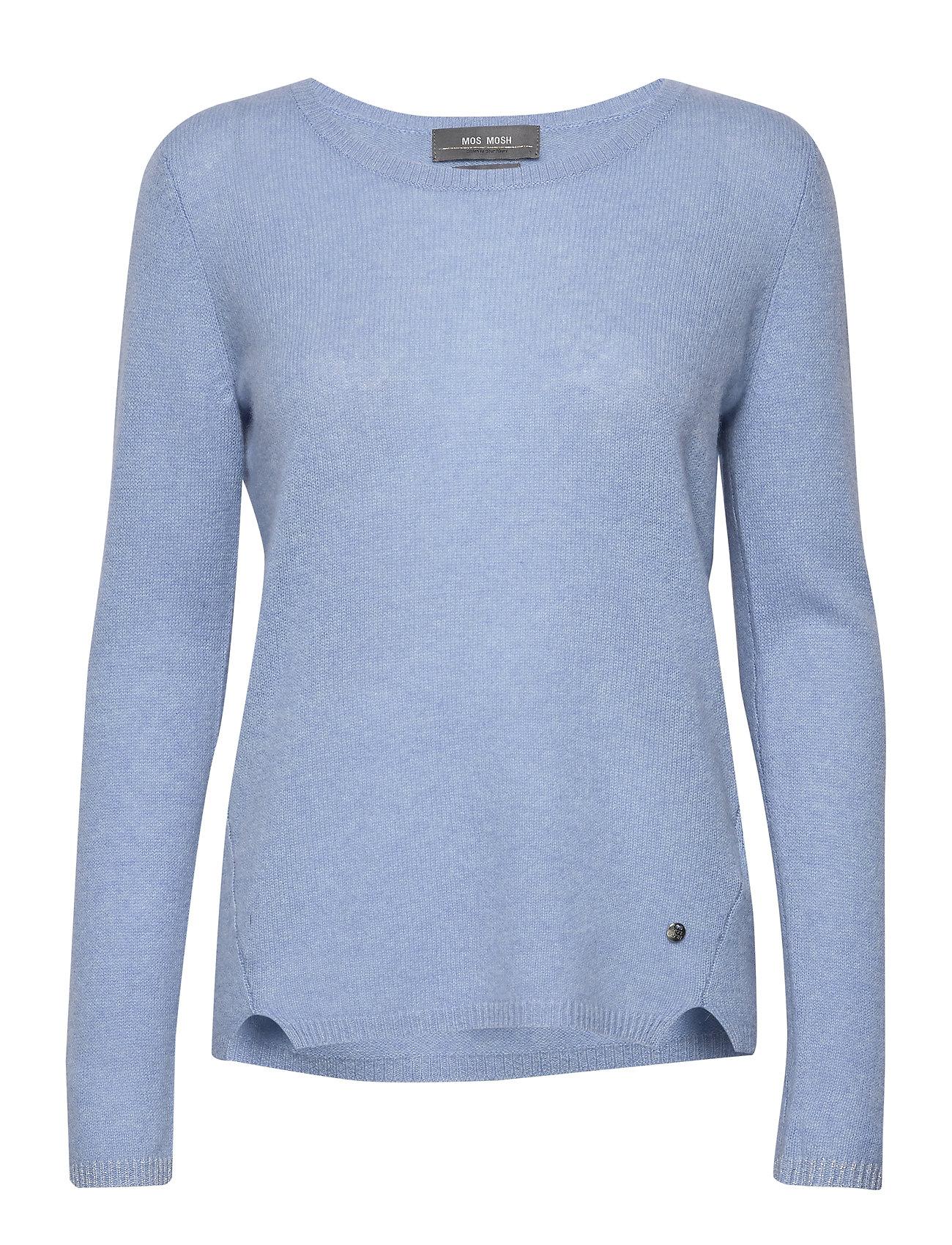 MOS MOSH Sophia O-neck Cashmere - SKY BLUE