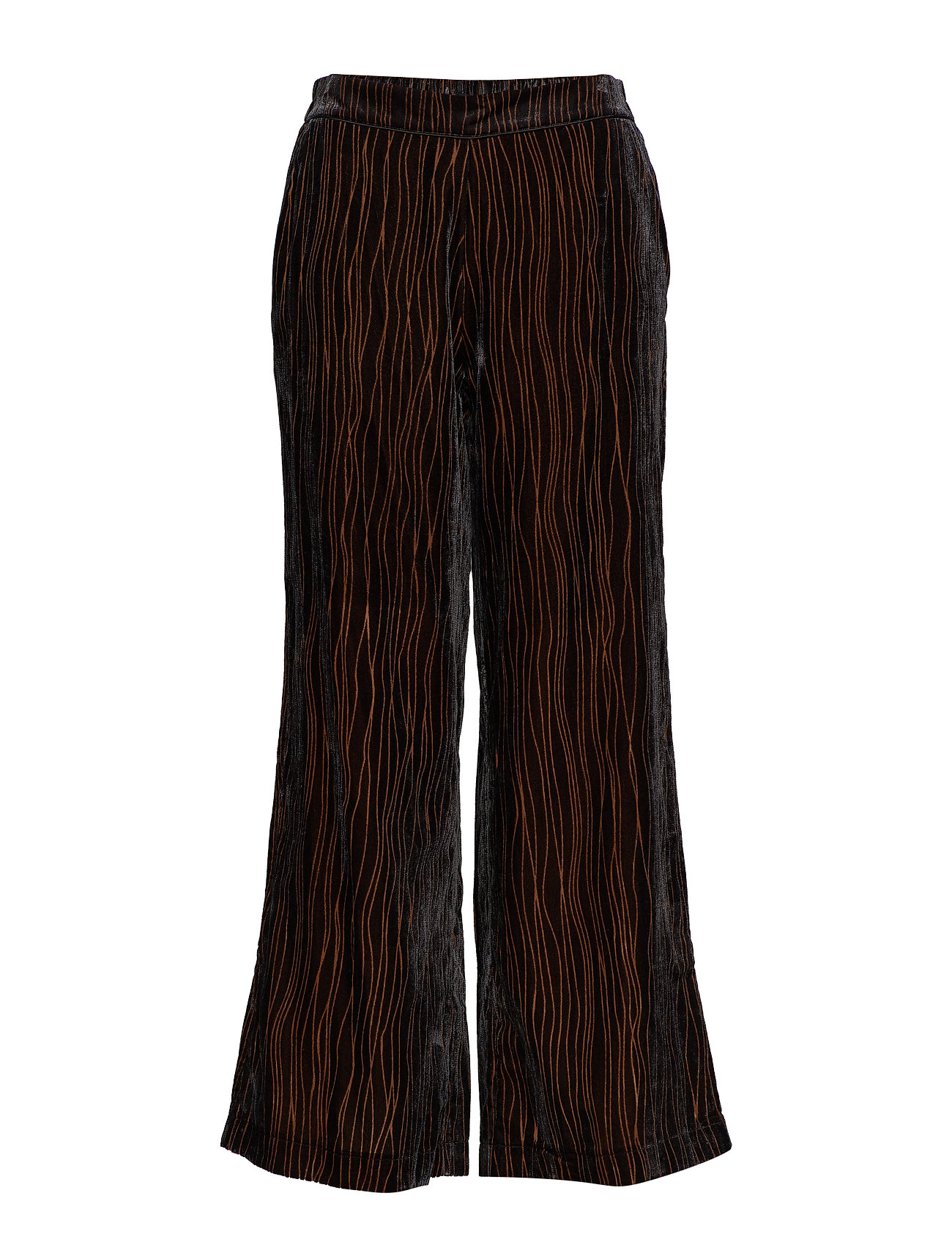 MOS MOSH Rita Velvet Pant - BLACK