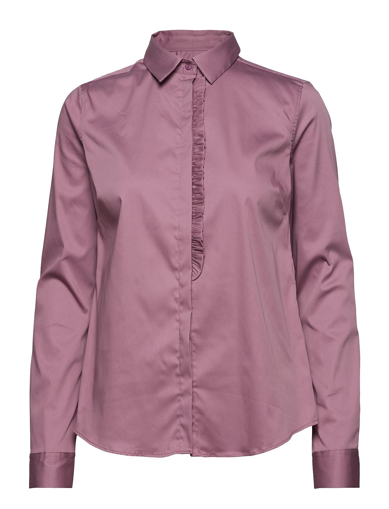 MOS MOSH Tilda Frill Shirt - VERY GRAPE
