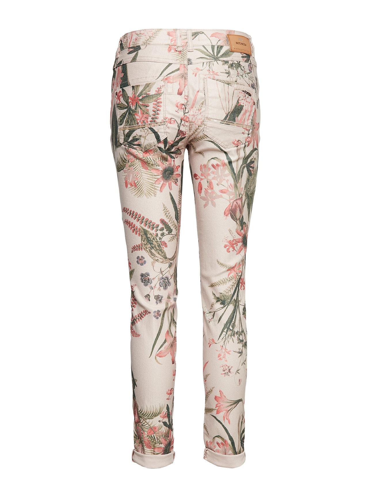 bea8c2df25d Naomi Shine Flower Pant Smalle Bukser Skinny Pants Multi/mønstret MOS MOSH