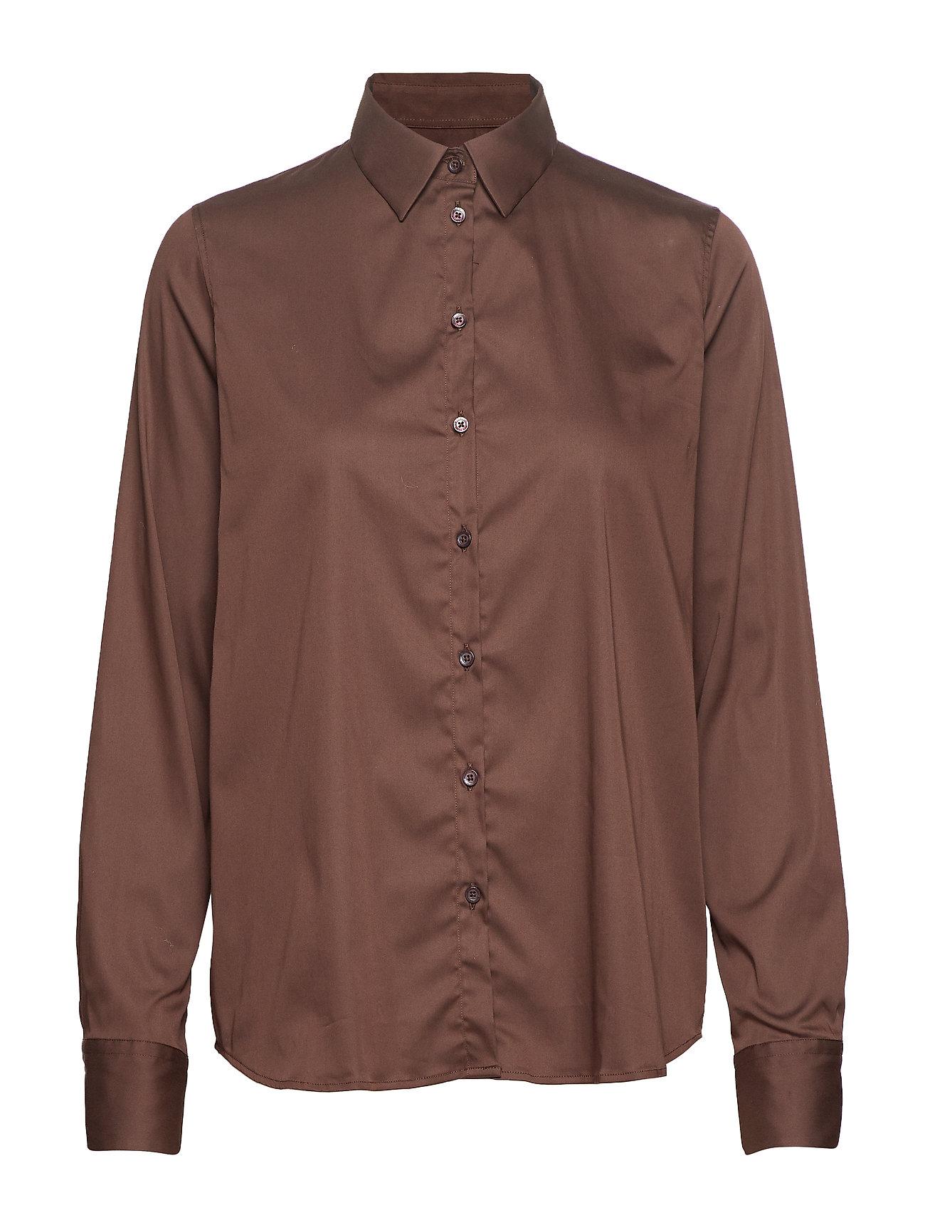 MOS MOSH Martina Shirt - COFFEE BEAN