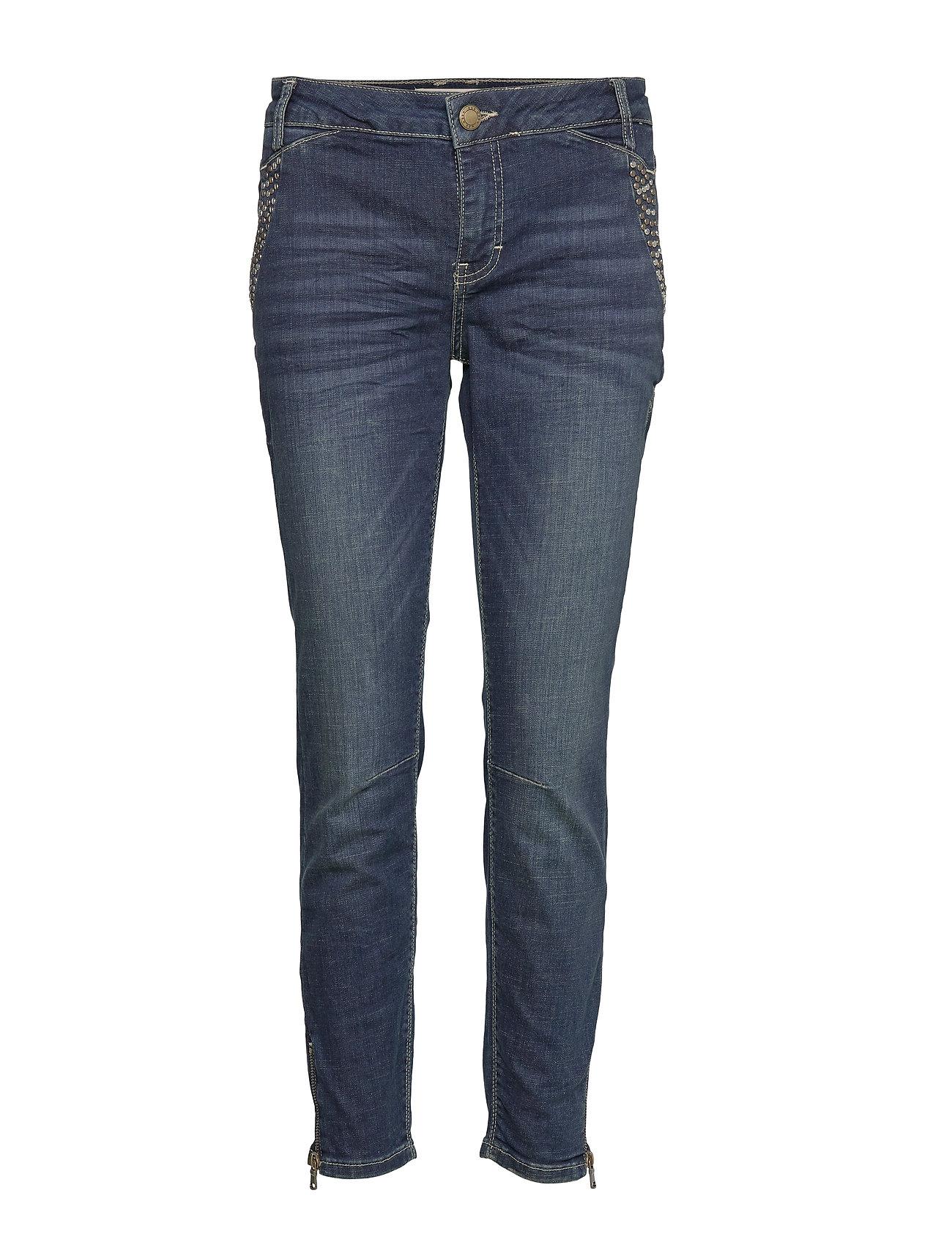 MOS MOSH Etta 7/8 Trok Jeans - DARK BLUE DENIM