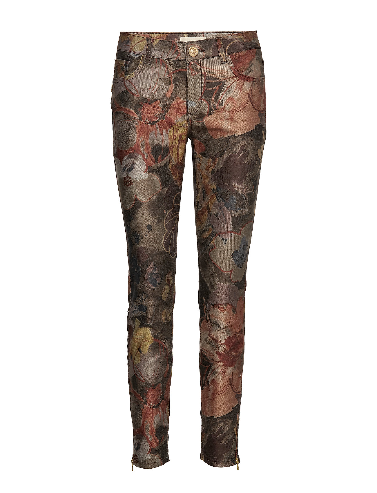 Image of Victoria Hill Pant Smalle Bukser Skinny Pants Brun MOS MOSH (3204283113)