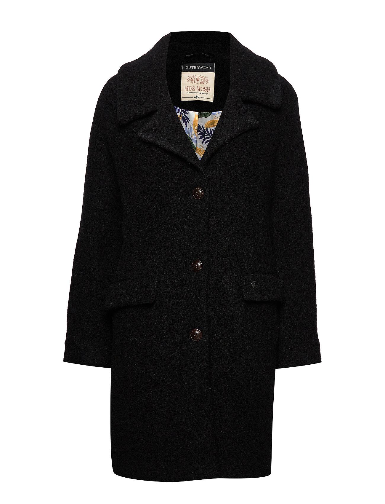 MOS MOSH Manny Wool Coat - BLACK