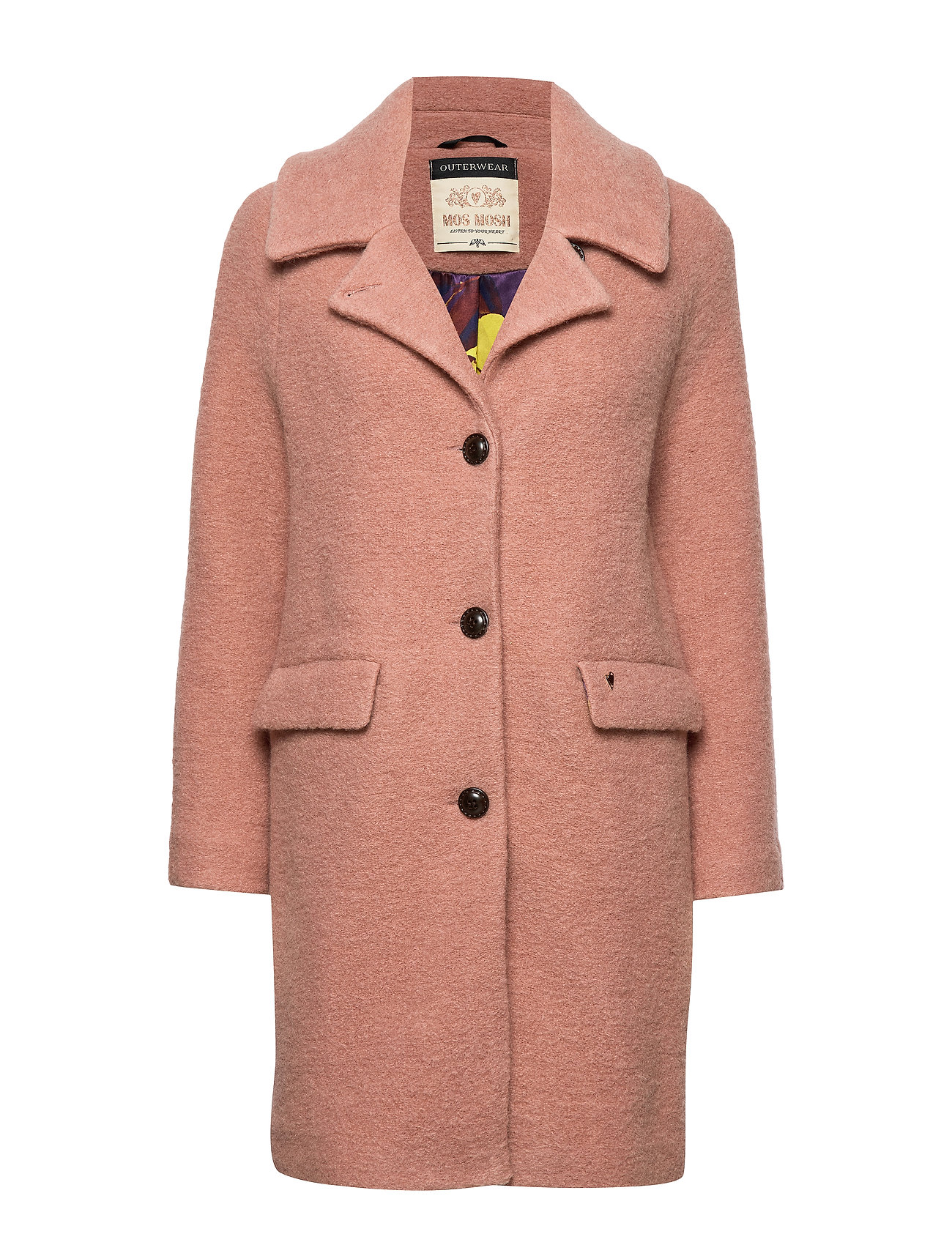 MOS MOSH Manny Wool Coat - VINTAGE ROSE