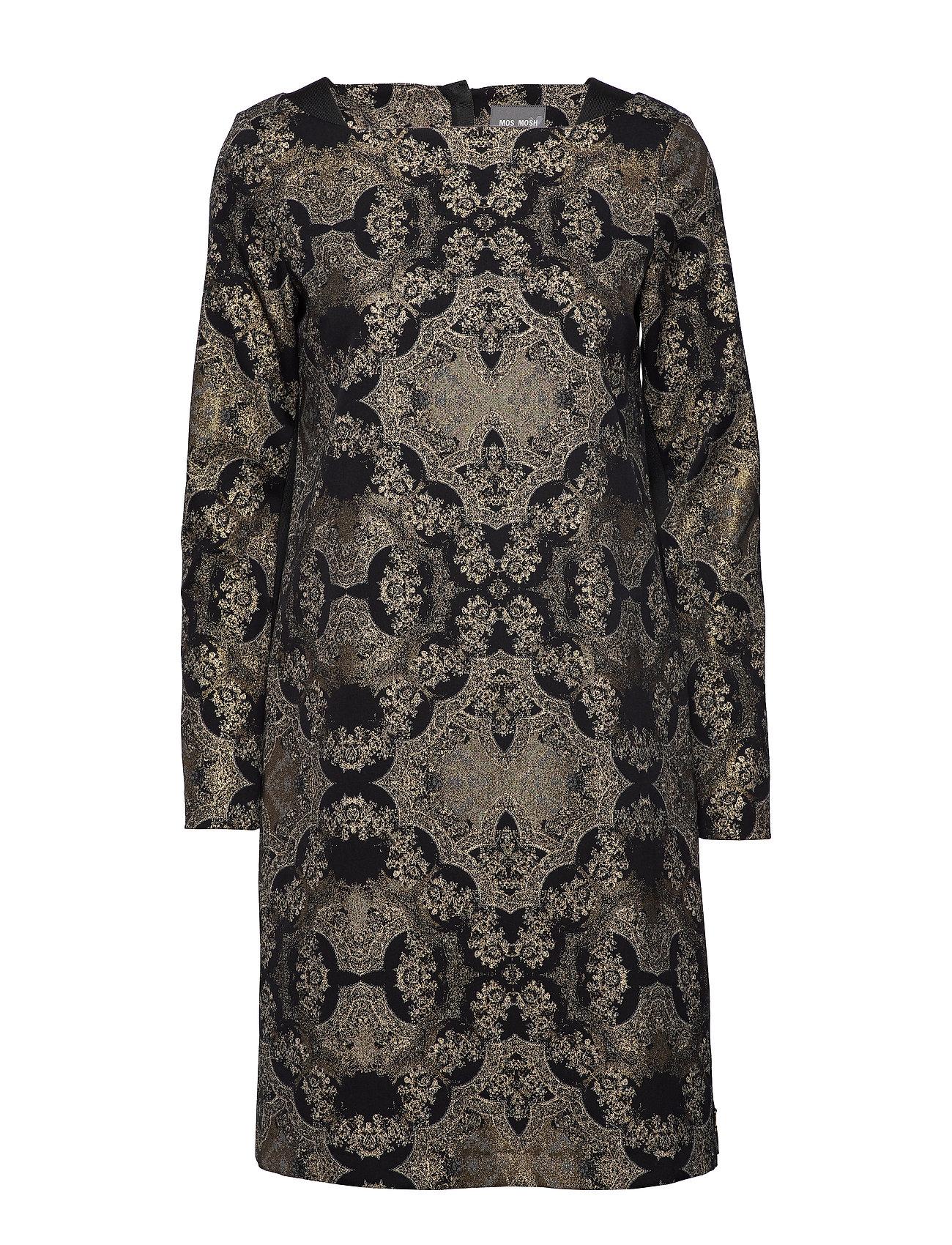MOS MOSH Via Miramare Dress - BLACK W. GOLD LUREX