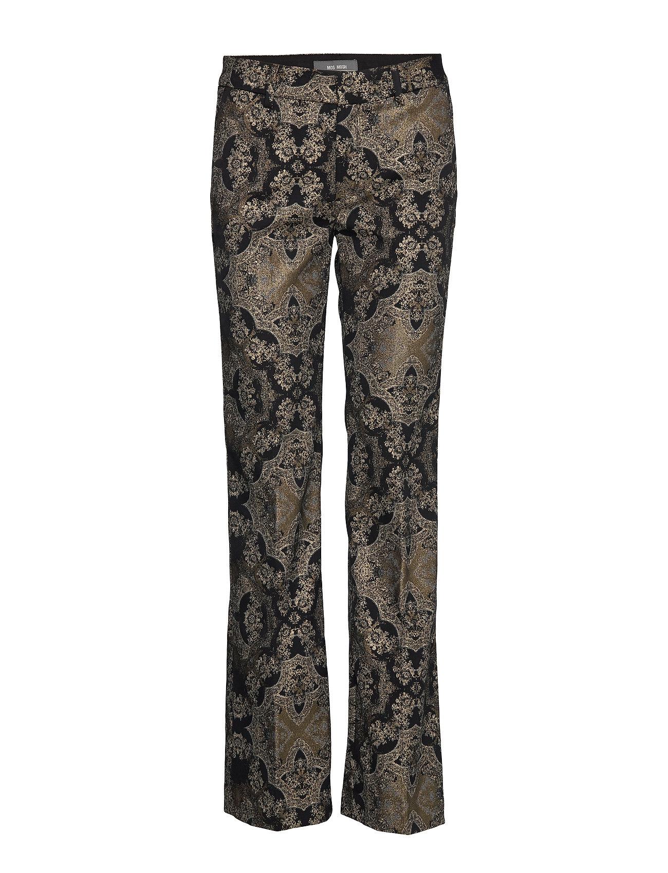 MOS MOSH Ivana Miramare Long Pant - BLACK W. GOLD LUREX