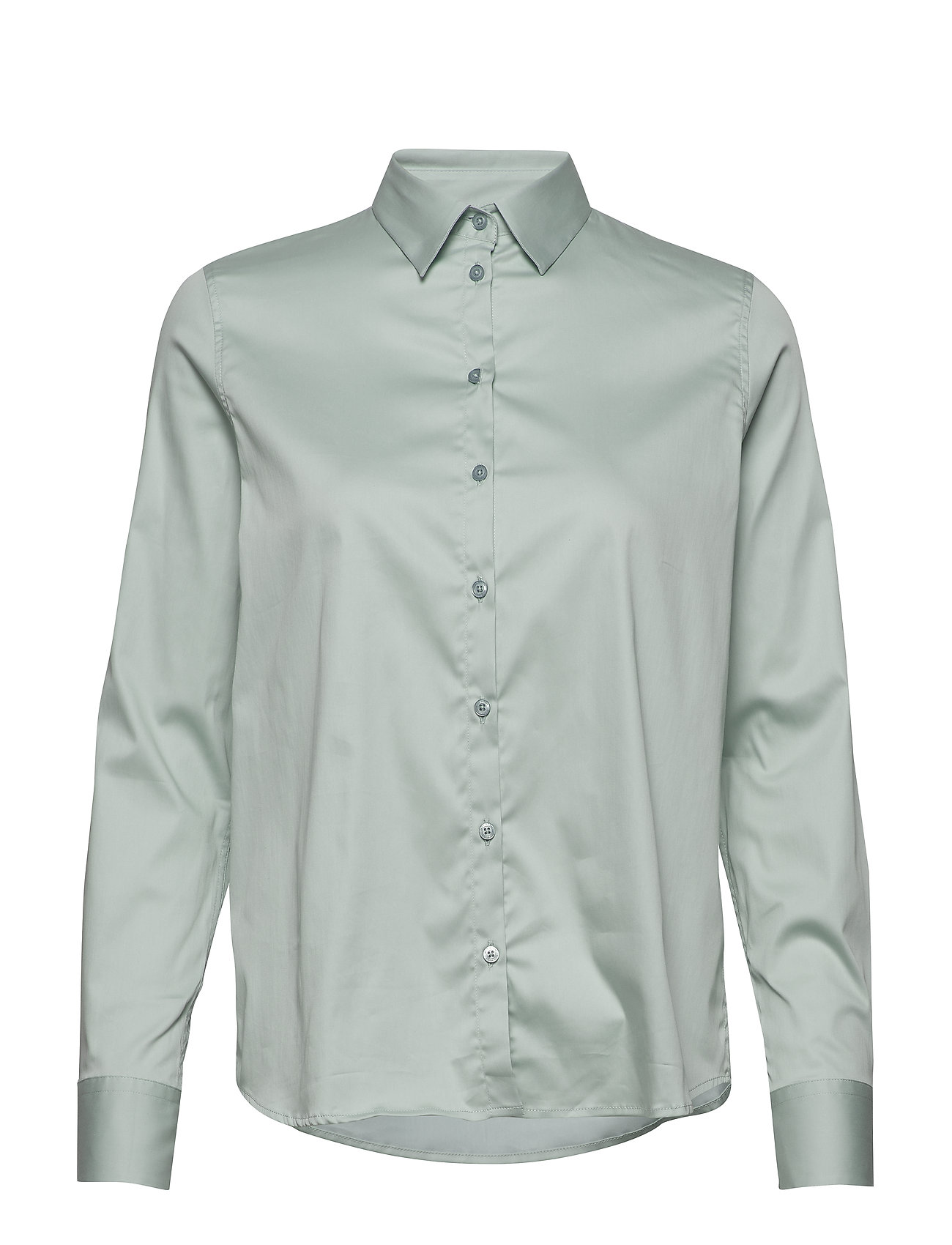 Image of Martina Sustainable Shirt Langærmet Skjorte Grøn MOS MOSH (3350776969)