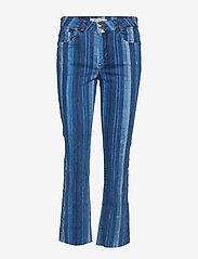 MOS MOSH - Simone Stripe Jeans - schlaghosen - blue stripe - 0