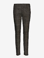 MOS MOSH - Abbey Regular York Pant - slim fit bukser - black check - 0