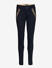 MOS MOSH - Milton Comfort Pant - slim fit bukser - salute navy - 0