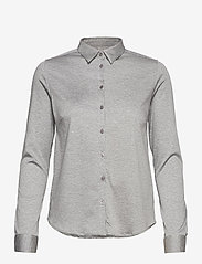 MOS MOSH - Tina Jersey Shirt - chemises à manches longues - light grey melange - 0
