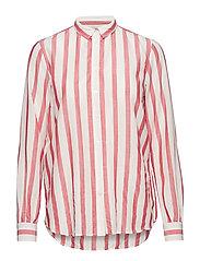 Kayla Stripe Shirt - ROCOCCO RED STRIPE