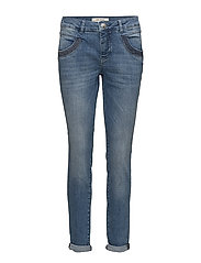 Naomi Shine Stitch - DARK BLUE DENIM