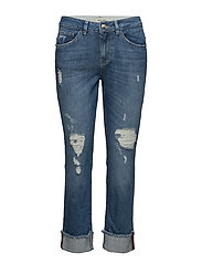 Emily Turn-Up Jeans - LIGHT BLUE DENIM