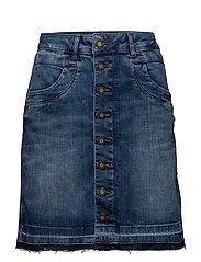 Vicky Flamingo Skirt - BLUE DENIM