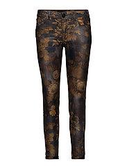 Sumner Printed Jeans - COGNAC FLOWER