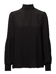 Vega Silk Blouse - BLACK