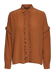 Raffey Silk Shirt - COGNAC