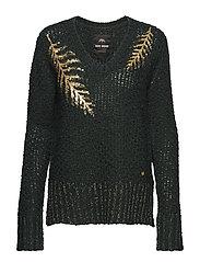 Anna Sequins Knit - DARK TEAL