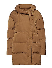 Leona Down Jacket - COGNAC
