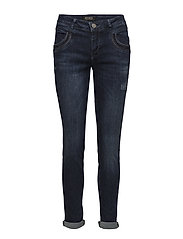 Naomi Shine Jeans - DARK BLUE DENIM