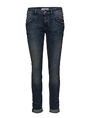 Naomi Embroidery Jeans - BLUE DENIM
