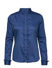 Tilda Flounce Shirt - FEDERAL BLUE