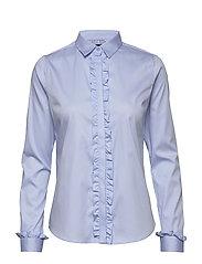 Tilda Flounce Shirt - LIGHT BLUE