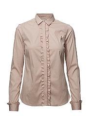 Tilda Flounce Shirt - LIGHT ROSE
