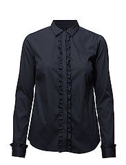 Tilda Flounce Shirt - NIGHT BLUE
