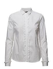 Tilda Flounce Shirt - WHITE