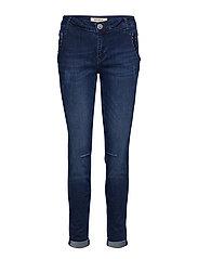 Etta Velvet Jeans - BLUE DENIM