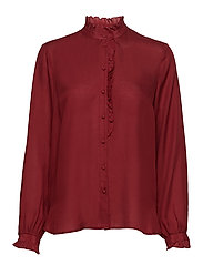Frida Shirt - SYRAH RED