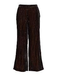 Rita Velvet Pant - BLACK