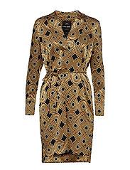 Lipa Printed Dress - GOLDEN PRINT