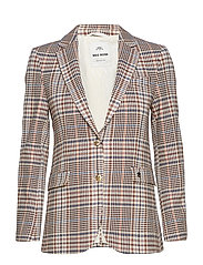 Mary Spring Blazer - ECRU CHECK