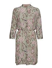 Elaine Vita Dress - SAGE GREEN PRINT