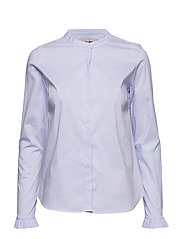 Mattie Stripe Shirt - LIGHT BLUE STRIPE