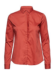 Tilda Frill Shirt - BURNT SIENNA