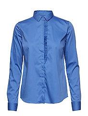 Tilda Frill Shirt - ULTRAMARINE