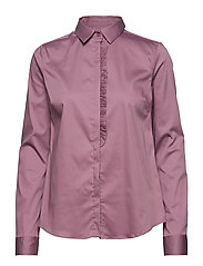 Tilda Frill Shirt - VERY GRAPE